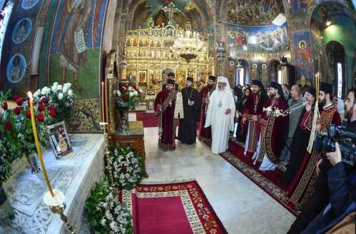 Patriarhul Daniel, PS Timotei Prahoveanul la parastas pentru Patriarh Iustinian Marina la Manastirea Radu Voda din Bucuresti (46)
