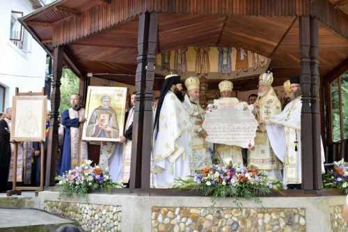 Proclamarea canonizării Sfântului Cuvios Pafnutie - Pârvu Zugravul la Mănăstirea Robaia