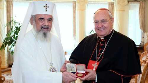 Patriarhul Daniel l a primit pe Cardinalul Leonardo Sandri la Patriarhia Romana 1a