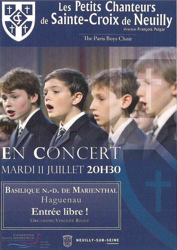Affiche concert petits chanteurs de Sainte Croix de Neuilly
