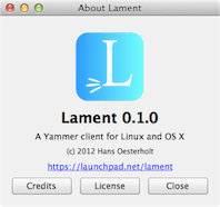 Lament  Yammer Client for Mac and Linux