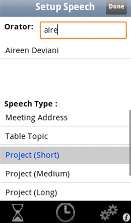 Speech Type Setup