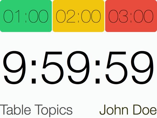 Speech Timer redesign projector 1024x768