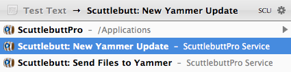 Send message to yammer