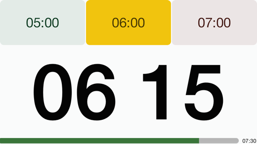 4in Landscape Timer Yellow 1