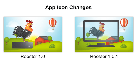 Rooster app icon changes for 1.0.1