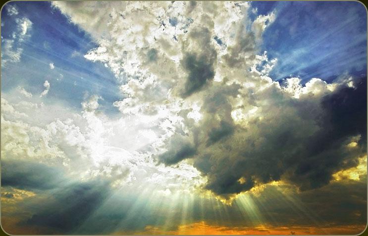 zon-wolken