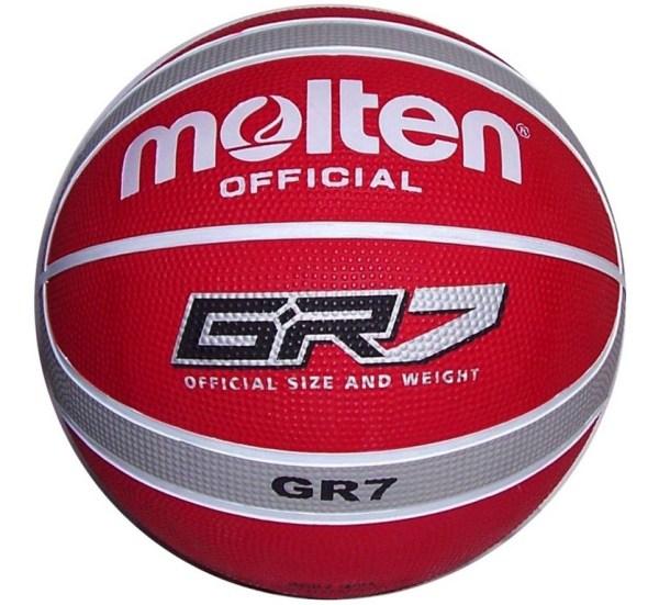 Molten Basketbal BGR7 Rood Zilver