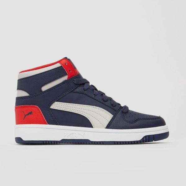 PUMA Rebound layup sneakers blauw/rood kinderen Kinderen