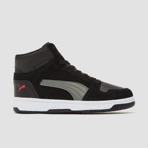 PUMA Rebound layup sneakers zwart/grijs kinderen Kinderen