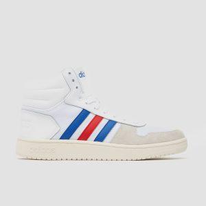 adidas Hoops 2.0 mid sneakers wit/blauw heren Heren