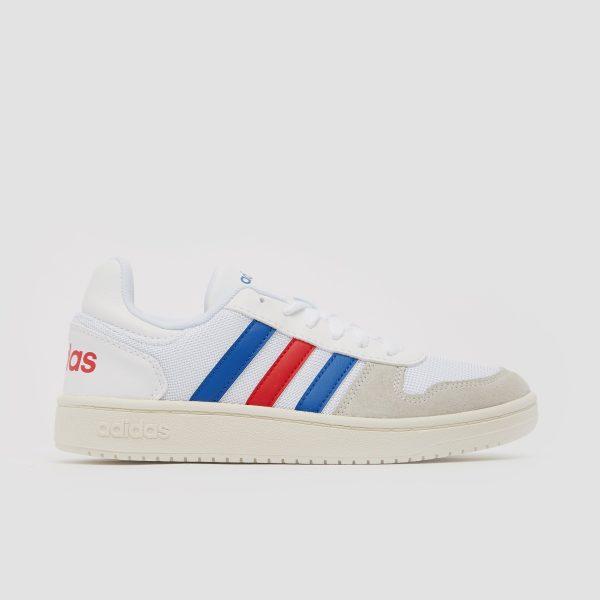 adidas Adidas hoops 2.0 sneakers wit/blauw kinderen kinderen