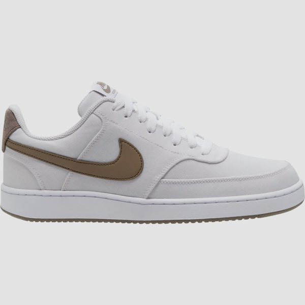 Nike Nike court vision canvas low sneakers wit/bruin heren heren
