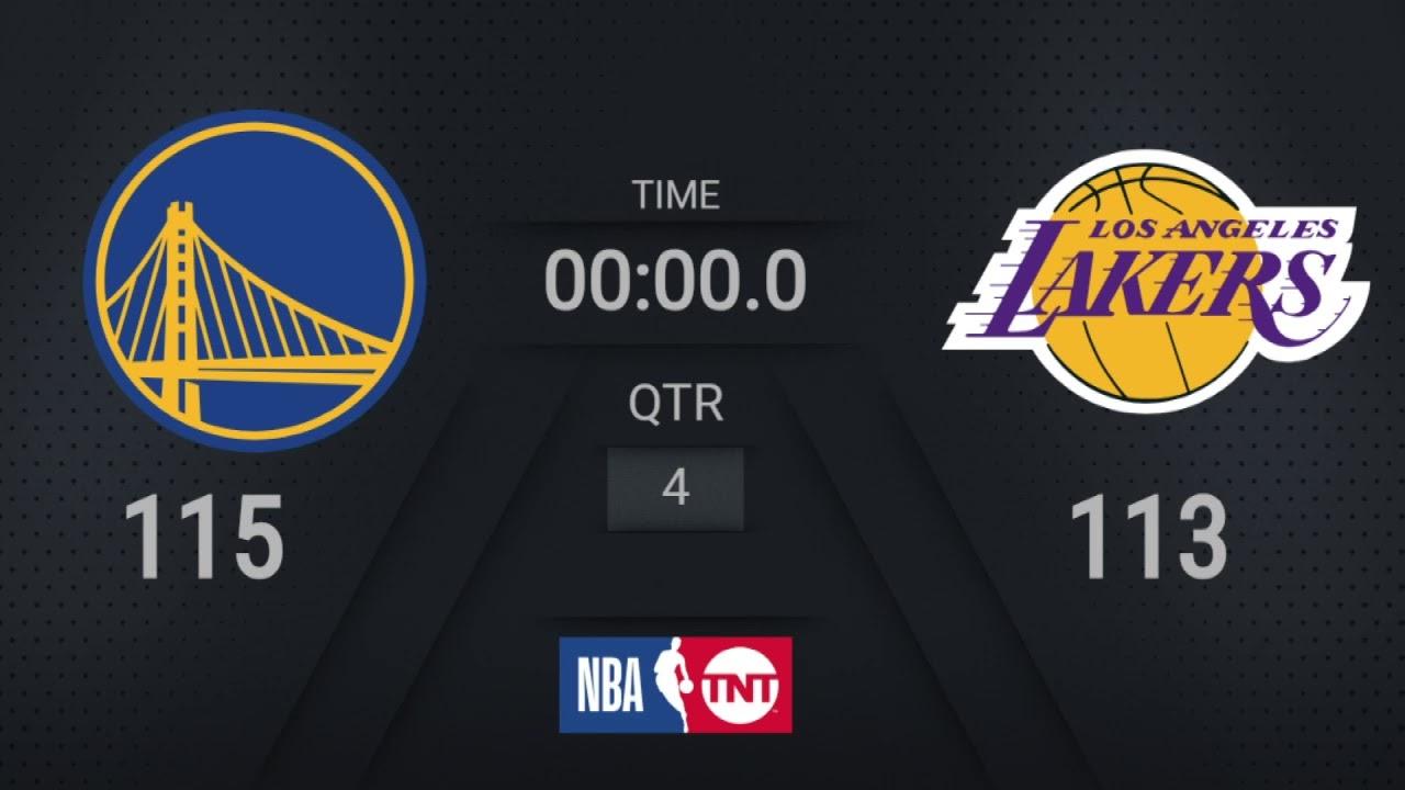 Warriors @ Lakers  | #MLKDay Live TNT Scoreboard