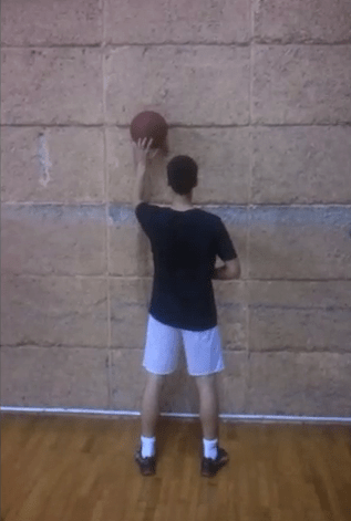 One Ball Basketball Dribbling Drill Using Wall - Left Hand
