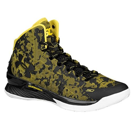 Curry 1 I Can Do All Things Yellow Black Camo Size 13