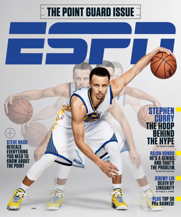 Stephen Curry cover of ESPN The Magazine​ Point Guard Issue
