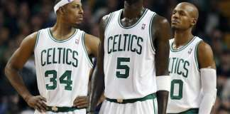 Paul Pierce, Kevin Garnett and Ray Allen