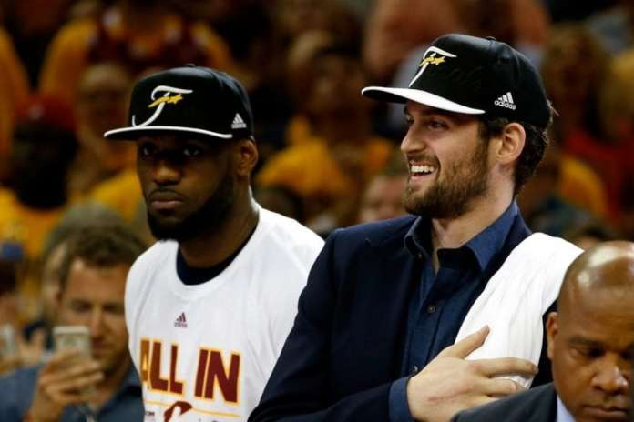 Kevin Love and LeBron James