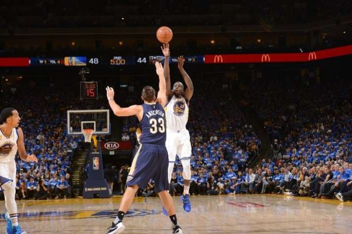 Draymond Green, Golden State Warriors, Ryan Anderson, New Orleans Pelicans