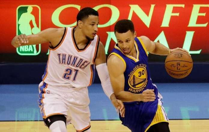 Oklahoma City Thunder, Golden State Warriors, Andre Roberson, Stephen Curry