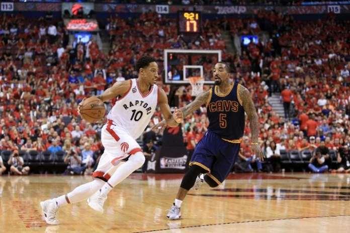 Toronto Raptors, Cleveland Cavaliers, DeMar DeRozan, JR Smith, Eastern Conference Finals