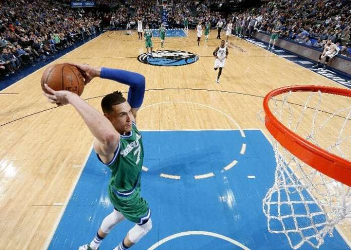 """After being just an """"add-on"""" to the Rajon Rondo trade two seasons ago, Dwight Powell took a nice step forward this past season and looks to improve even more (Photo by Glenn James/NBAE via Getty Images)"""