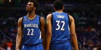 Karl-Anthony Towns and Andrew Wiggins