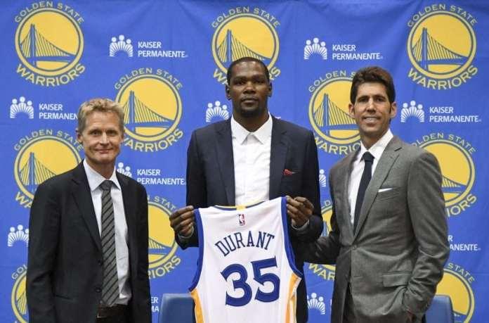 Golden State Warriors, Kevin Durant, Steve Kerr