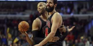 Taj Gibson and Nikola Mirotic