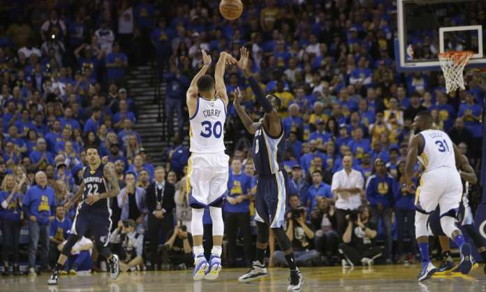 steph curry warriors grizzlies