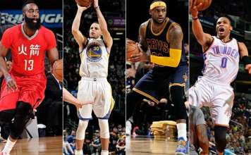 NBA Playoffs, James Harden, Steph Curry, LeBron James, Russell Westbrook