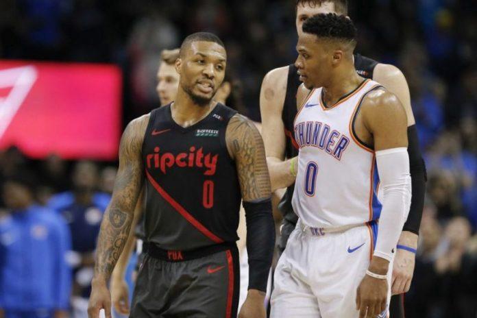 Damian Lillard vs Russell Westbrook NBA