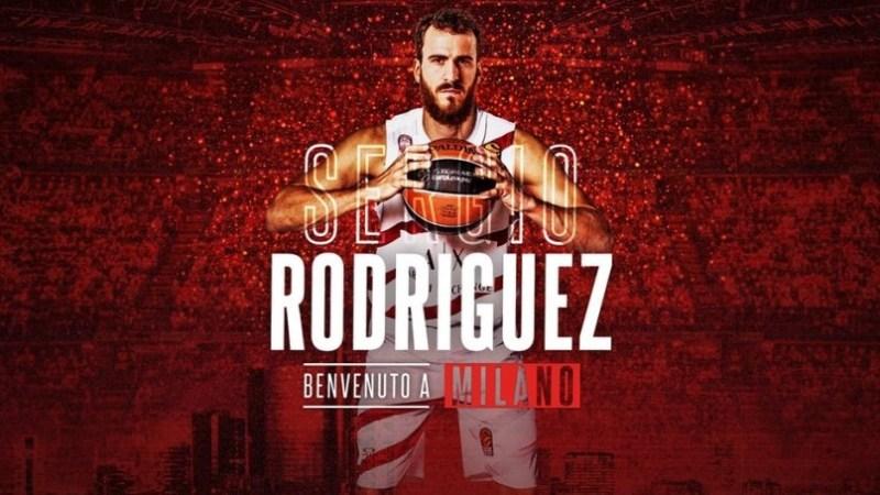 Sergio Rodríguez jugará en Milán las próximas tres temporadas