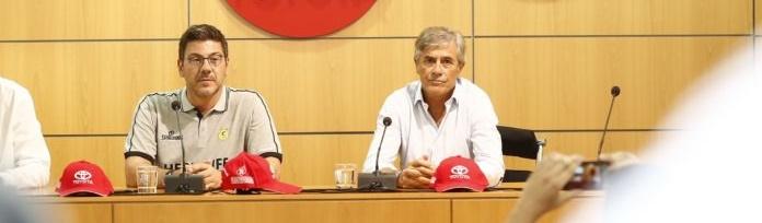 Katsikaris, en su presentación: «El primer objetivo es hacer equipo»