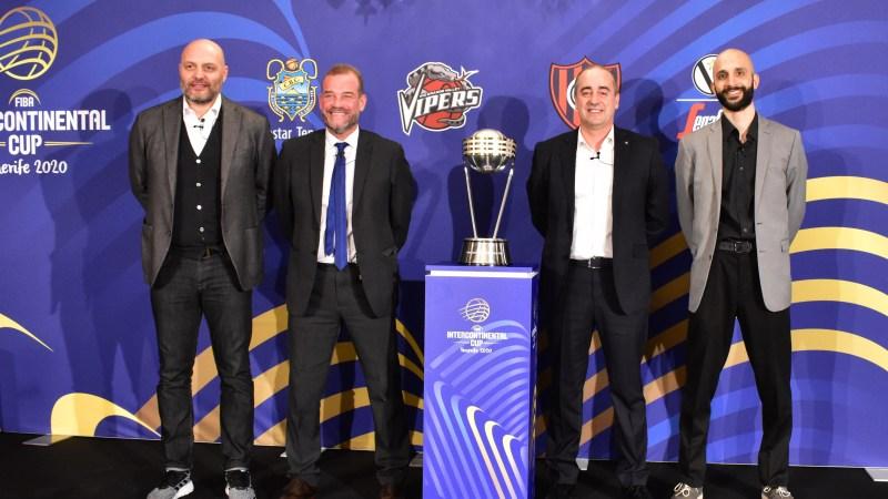 La presentación de la FIBA Intercontinental Cup Tenerife 2020, en fotografías de @basketinsular