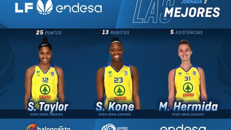 Tres jugadoras del CB Islas Canarias, las mejores de la segunda jornada en Liga Femenina
