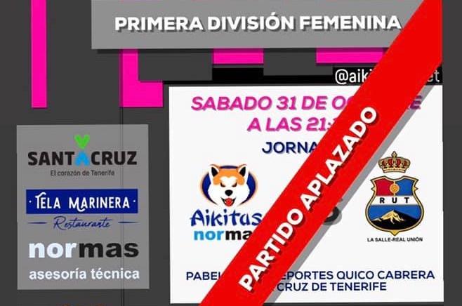 El partido entre Aikitas y La Salle-Real Unión de Primera División, aplazado por COVID-19