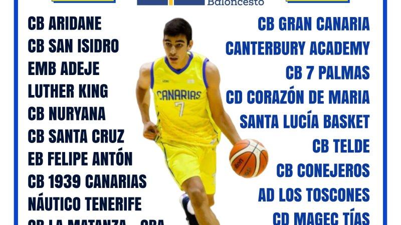 La Liga Canaria Cadete Masculina comenzará el 1 de noviembre con cinco grupos