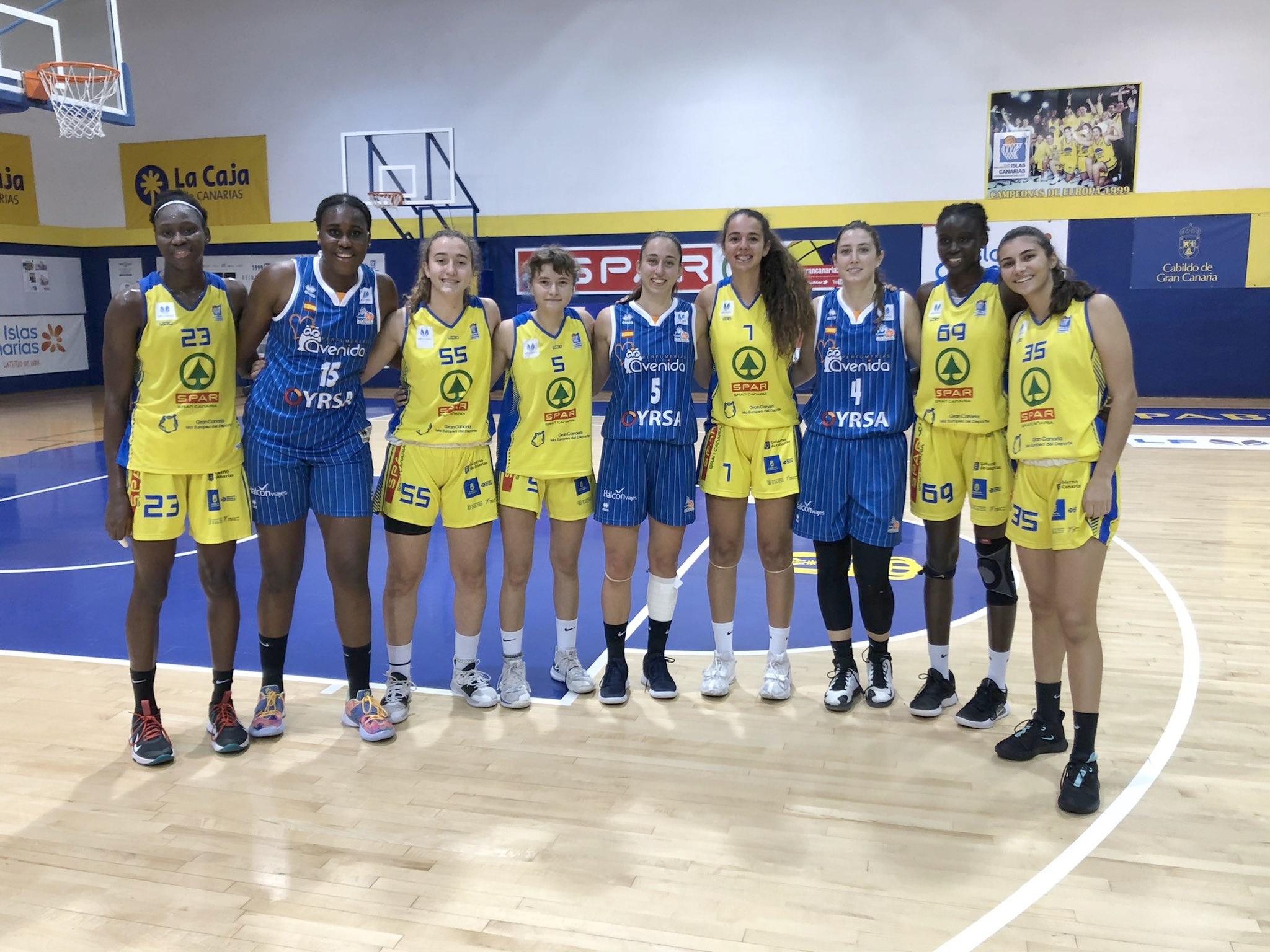 Histórico: Nueve jugadoras con formación canaria en un partido de Liga Femenina