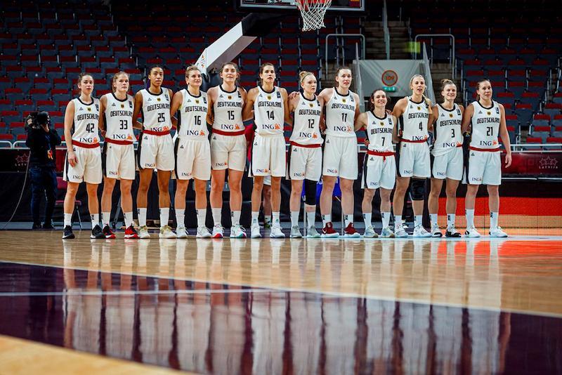 Alina Hartmann no pudo clasificarse con Alemania para el Eurobasket 2021, al caer ante Letonia y Croacia