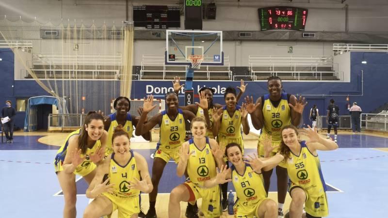 El CB Islas Canarias gana al Ibaeta, suma diez triunfos y logra la permanencia en Liga Femenina