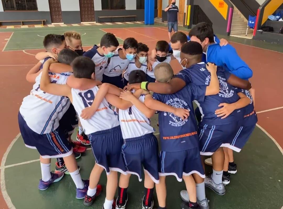 Santo Domingo Virgen del Mar, campeón tinerfeño en Preminibasket Masculino