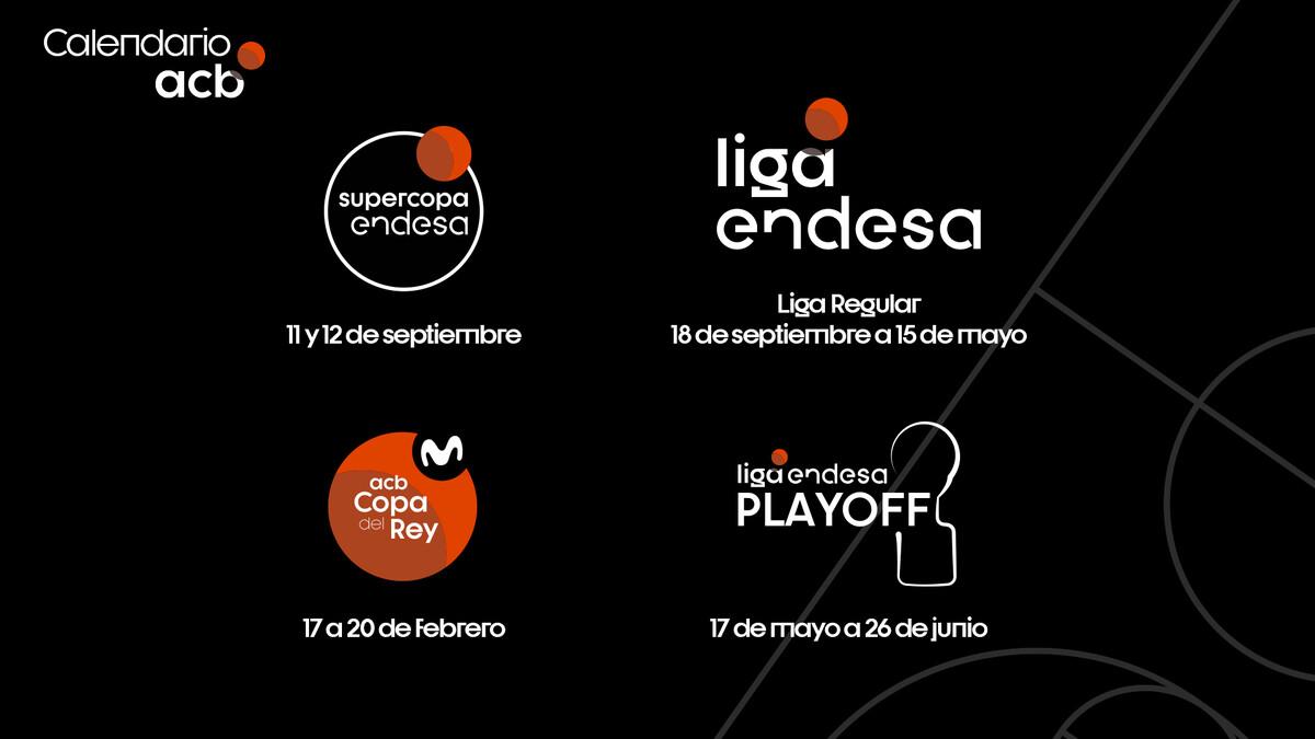 Los torneos de la ACB 2021/22 se jugarán de septiembre a junio