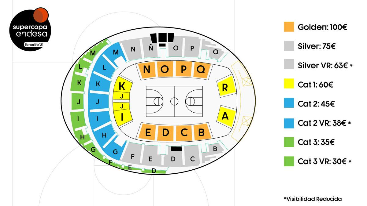 Este martes se pondrán a la venta los abonos para la Supercopa ACB a precios de entre treinta y cien euros