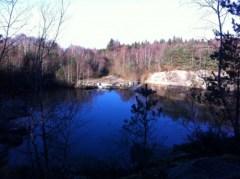 lac situé en haut de la côte... vue superbe