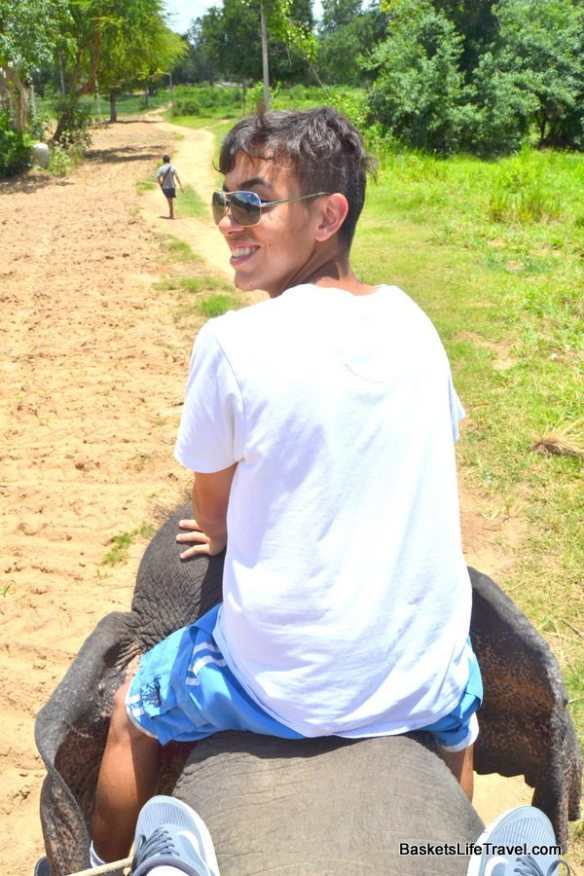 Riding the elephants in Bangkok