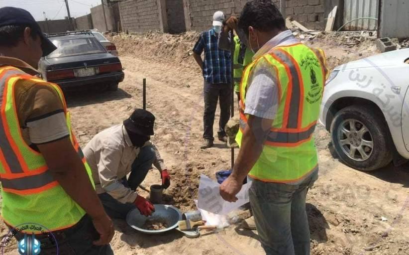 اعمال مشروع البنى التحتية لمجمع الرحاب السكني