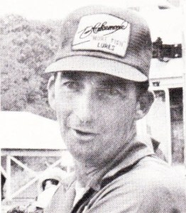 Charlie Campbell individual winner at the 1974 BASS Chapter Championship, Table Rock Lake. Photo February 1975 issue of Bassmaster Magazine.