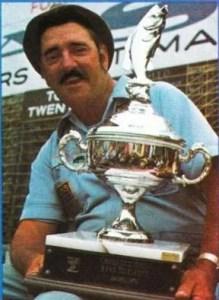 1974 Bass Master Trail. Don Shealy winner of the 1974 Virginia Invitational on Kerr Reservoir. Photo September/October issue of Bassmaster Magazine.
